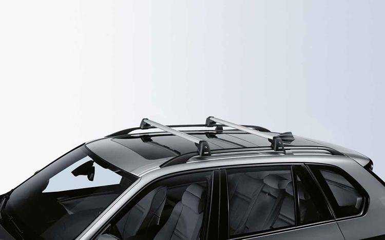 barres de toit bmw pour bmw x5 e70 dans accessoires d 39 origine bmw transport boutique. Black Bedroom Furniture Sets. Home Design Ideas