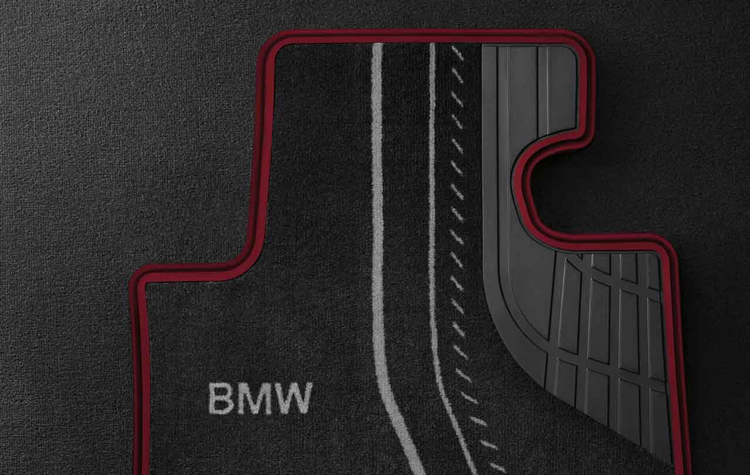 tapis de sol textile arri re sport pour bmw s rie 1 f20 f21 dans accessoires d 39 origine bmw. Black Bedroom Furniture Sets. Home Design Ideas
