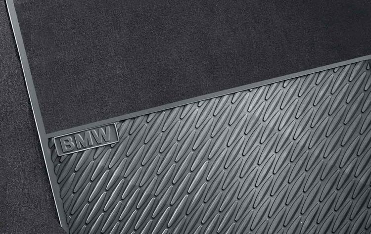 Tapis de sol tous temps arri re noir pour bmw s rie 7 f02 dans accessoires d 39 origine bmw Tapis de sol bmw serie 1