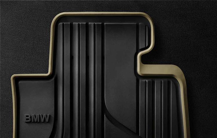 tapis de sol caoutchouc arri re modern pour bmw s rie 1 f20 f21 dans accessoires d 39 origine bmw. Black Bedroom Furniture Sets. Home Design Ideas