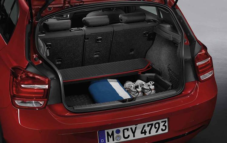 bac de coffre bagages sport pour bmw s rie 1 f20 f21 dans accessoires d 39 origine bmw. Black Bedroom Furniture Sets. Home Design Ideas